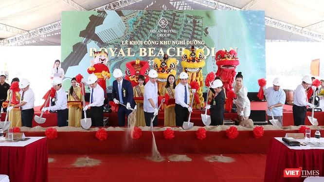 Lễ khởi công Dự án Khu nghỉ dưỡng tiêu chuẩn 5 sao quốc tế Hội An Royal Beach Resort tại khu vực biển An Bàng (TP Hội An, tỉnh Quảng Nam).