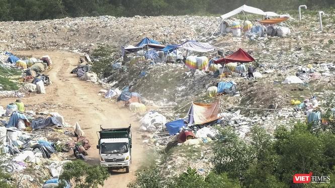 Bãi rác thải sinh hoạt tại xã Đại Hiệp đang bắt đầu đóng cửa