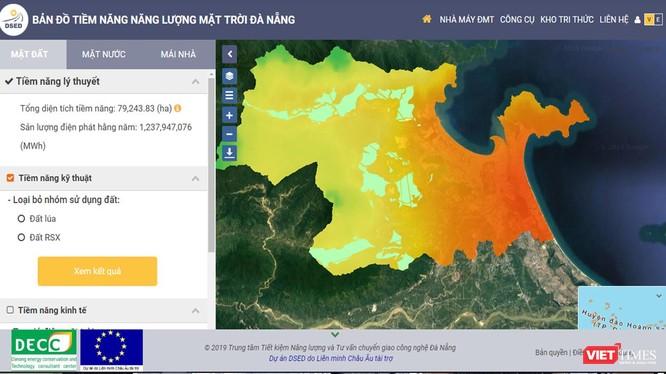 Bản đồ tiềm năng năng lượng mặt trời TP Đà Nẵng vừa được Trung tâm Tiết kiệm năng lượng và Chuyển giao công nghệ Đà Nẵng công bố.