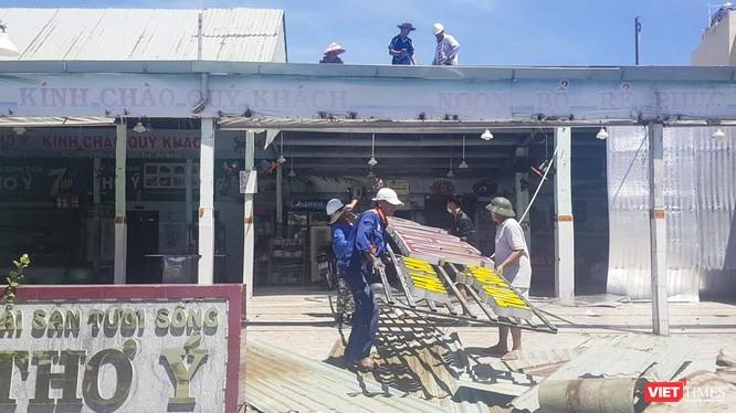 Thơ Ý-một trong những nhà hàng hải sản có tiếng của Đà Nẵng bị tháo dỡ do vi phạm vầ trật tự xây dưng