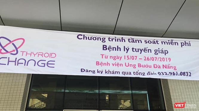 Bệnh viện Ung bướu Đà Nẵng sẽ tầm soát miễn phí cho khoảng 3.000 người dân tại Đà Nẵng và các tỉnh lân cận có nguy cơ mắc bệnh tuyến giáp (ảnh Phước Hiền)