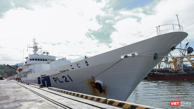 Tàu Kojima thuộc Lực lượng bảo vệ bờ biển Nhật Bản (Japan Coast Guard) tại cảng Tiên Sa.