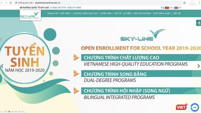 """Trang tin điện tử của Trường liên cấp Sky-line đăng tải thông tin """"mạo danh"""" trường quốc tế"""