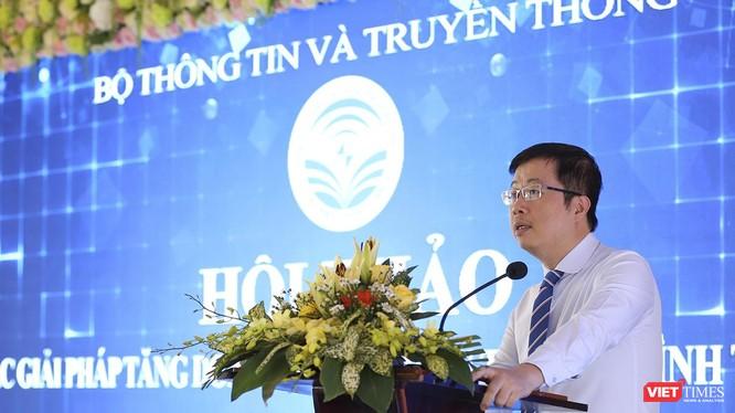 Ông Nguyễn Thanh Lâm, Cục trưởng Cục PT-TH &TTĐT phát biểu tại Hội thảo
