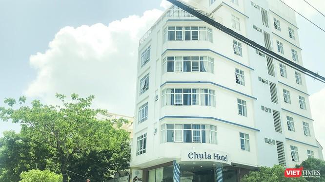 Khách sạn Chula tại địa chỉ 388 Võ Nguyên Giáp (quận Ngũ Hành Sơn, TP Đà Nẵng), nơi các đối tượng người Trung Quốc thuê trọn gói để tổ chức hoạt động kinh doanh trái phép