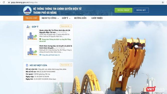 Cổng Góp ý Đà Nẵng - https://gopy.danang.gov.vn