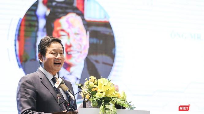 Ông Trương Gia Bình-Chủ tịch VINASA phát biểu tại sự kiện hội nghị thượng đỉnh TP thông minh 2019 - Smart City Summit 2019 lần thứ 3 diễn ra tại Đà Nẵng
