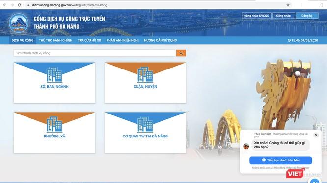 Cổng dịch vụ công trực tuyến TP Đà Nẵng tại địa chỉ https://dichvucong.danang.gov.vn/