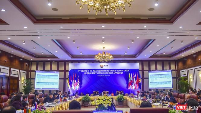Quang cảnh cuộc họp lần thứ 9 Nhóm Công tác Hội đồng Điều phối ASEAN (ACCWG) diễn ra tại Đà Nẵng vào chiều ngày 5/3
