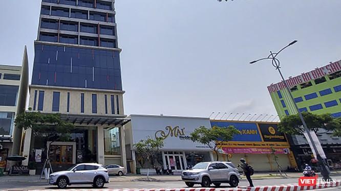 Khách sạn Vanda trên đường Nguyễn Văn Linh (Đà Nẵng), nơi 2 du kjhachs người Anh mắc COVID-19 lưu trú