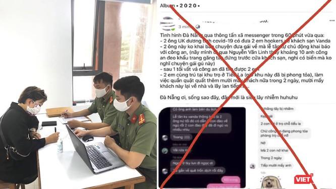 Lực lượng công an làm việc với các chủ trang mạng xã hội đăng tin sai sự thật về dịch COVID-19