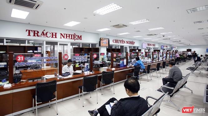 Bộ phận tiếp công dân một cửa tại Trung tâm hành chính TP Đà Nẵng