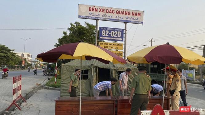 Chốt kiểm soát y tế đường bộ đối với các cửa ngõ dần vào tỉnh Quảng Nam