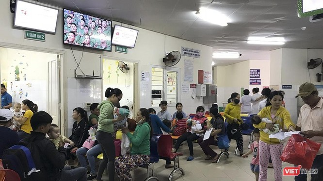 Một góc khu khám bệnh Bệnh viện Phụ sản - Nhi Đà Nẵng