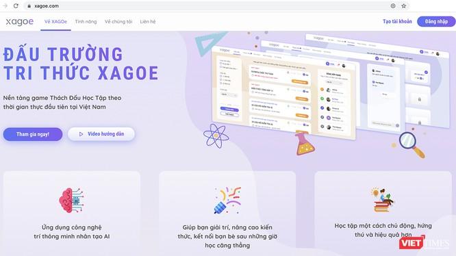 Giao diện ứng dụng công nghệ giáo dục XAGOe - Đấu trường Tri thức vừa được đưa vào sử dụng miễn phí dành cho học sinh THPT tại Đà Nẵng