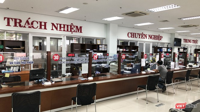 Công chức Đà Nẵng tại bộ phận một cửa Trung tâm hành chính TP.