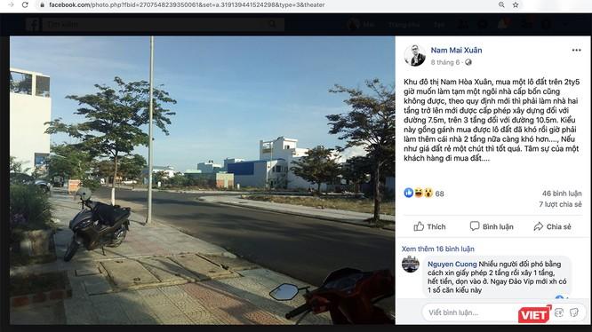 Phản ánh của cư dân mạng xã hội về quy định tầng cao xây dựng tại khu đô thị mới Nam Hòa Xuân