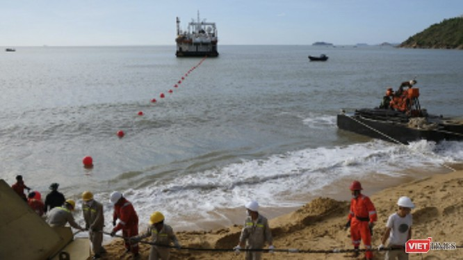 Tuyến cáo biển SJC2 được cập bờ tại TP Quy Nhơn (ảnh vnpt)