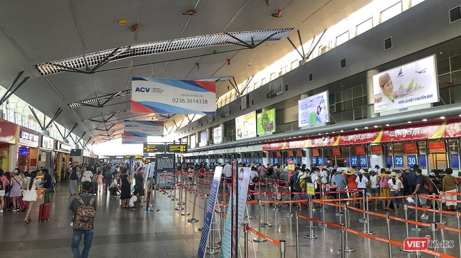 Sân bay Đà Nẵng sẽ dừng toàn bộ các chuyến bay nội địa đến và đi trong vòng 15 ngày kể từ 0h ngày 28/7
