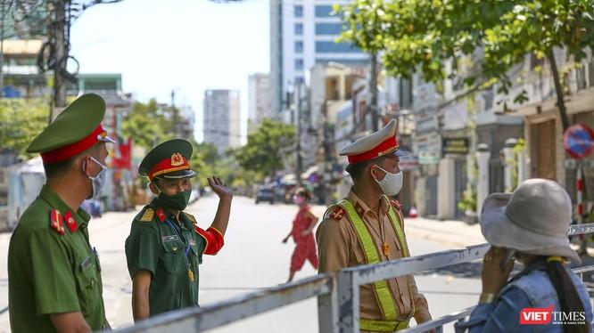 Một khu vực phong toả phòng dịch trên đia bàn TP Đà Nẵng