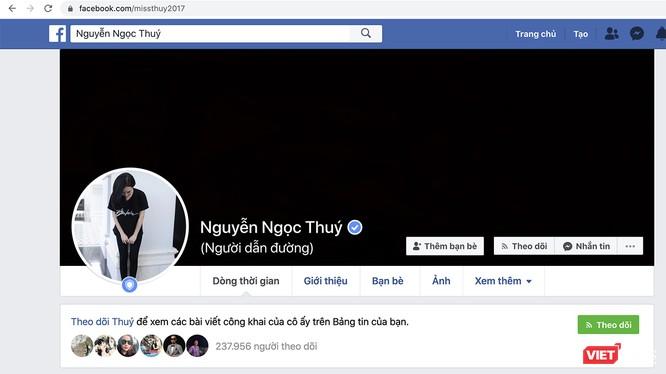 """Giao diện trang facebook mang tên """"Nguyễn Ngọc Thúy"""""""