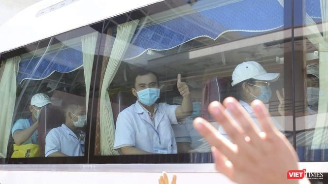 Sáng ngày 6/8, đoàn cán bộ y tế của Sở Y tế tỉnh Bình Định đã chính thức lên đường tiếp viện cho Đà Nẵng để chống dịch COVID-19 (ảnh BYT)