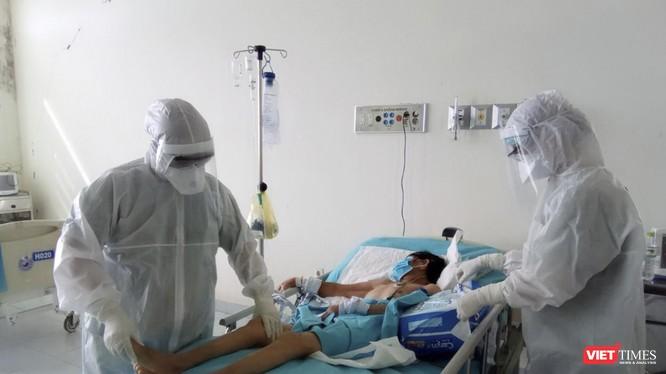 Bệnh nhân mắc COVID-19 đang được điều trị tại Quảng Nam