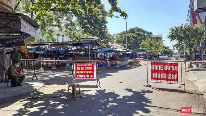 Khu vực chợ Vườn Lài, khối phố 5, phường An Sơn, TP Tam Kỳ, Quảng Nam chính thức bị phong tỏa, cách ly 14 ngày kể từ 0h ngày 11/8