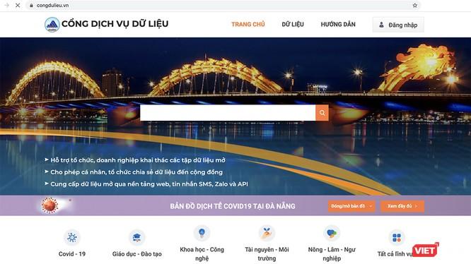 """""""Cổng dịch vụ dữ liệu (mở) Đà Nẵng"""" do Sở TT&TT triển khai tại địa chỉ: https://www.congdulieu.vn/"""