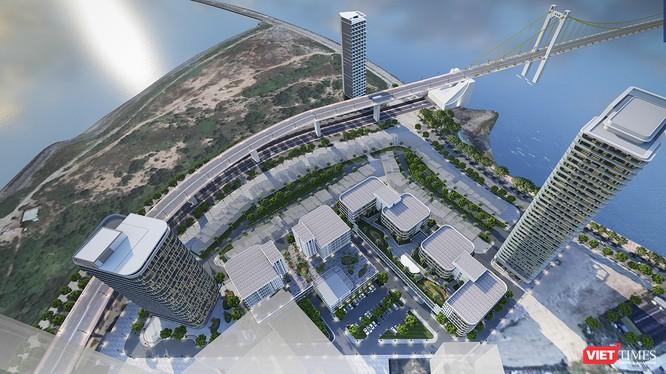 Phối cảnh Khu Công viên phần mềm số 2 Đà Nẵng nhìn từ trên cao