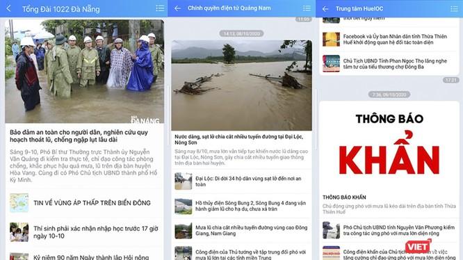 Ứng dụng Zalo cung cấp thông tin bão lũ cho người dân