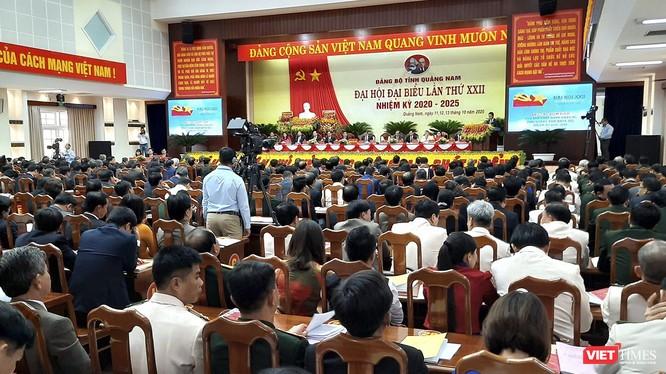 Quang cảnh phiên khai mạc Đại hội đại biểu tỉnh Quảng Nam lần thứ XXII (nhiệm kỳ 2020 - 2025) diễn ra sáng 12/10