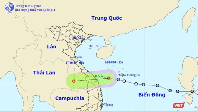 Dự báo của Trung tâm dự báo khí tượng thuỷ văn quốc gia về diễn biến của áp thấp nhiệt đới