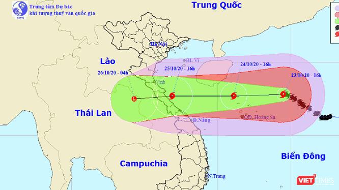 Dự báo hướng đi của bão số 8 trên biển Đông