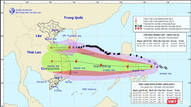 Miền Trung liên tiếp đón nhận những cơn bão mạnh