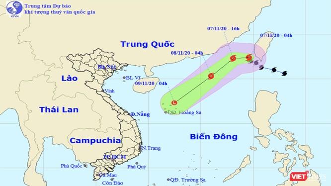 Đường đi của bão Atsani trên biển