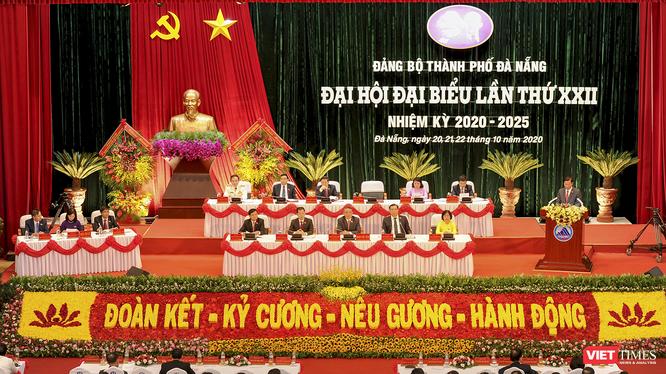 Quang cảnh Đại hội Đảng bộ TP Đà Nẵng lần thứ XXII, nhiệm kỳ 2020 – 2025