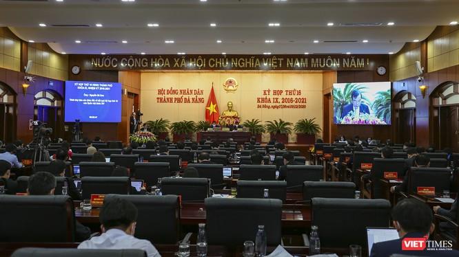 Quang cảnh phiên khai mạc kỳ họp thứ 16 HĐND TP Đà Nẵng khoá IX, nhiệm kỳ 2016-2021 diễn ra sáng ngày 7/12