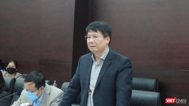 Thứ trưởng Bộ Y tế Trương Quốc Cường - Phó trưởng Ban Chỉ đạo Quốc gia phòng, chống dịch COVID-19 phát biểu tại buổi làm việc với TP Đà Nẵng