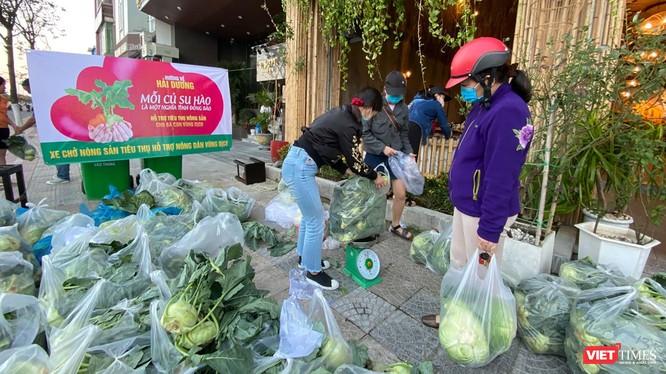 Điểm giải cứu nông sản từ Hải Dương tại số nhà 370 đường 2/9 (quận Hải Châu, TP Đà Nẵng).