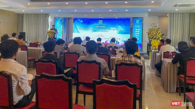 Quang cảnh Hội thảo chuyên ngành Tác quyền sáng tác trong kiến trúc tại Việt Nam do Hội kiến trúc sư tổ chức tại Đà Nẵng