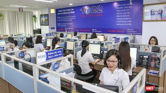 Không gian làm việc của Tổng đài 1022 Đà Nẵng