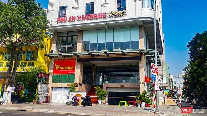 Khách sạn Phú An (đường 2/9, quận Hải Châu, Đà Nẵng), nơi vừa phát hiện 2 ca dương tính với SARS-CoV-2
