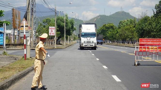 Chốt kiểm soát phòng dịch ra vào của ngõ TP Đà Nẵng