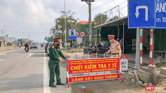 Lực lượng công an, quân đội siết chặt phòng dịch khi Quảng Ngãi liên tiếp phát hiện ca mắc COVID-19 mới