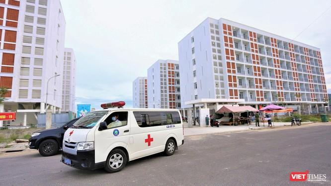 Khu ký túc xá phía tây TP Đà Nẵng được trưng dụng làm Bệnh viện dã chiến điều trị COVID-19