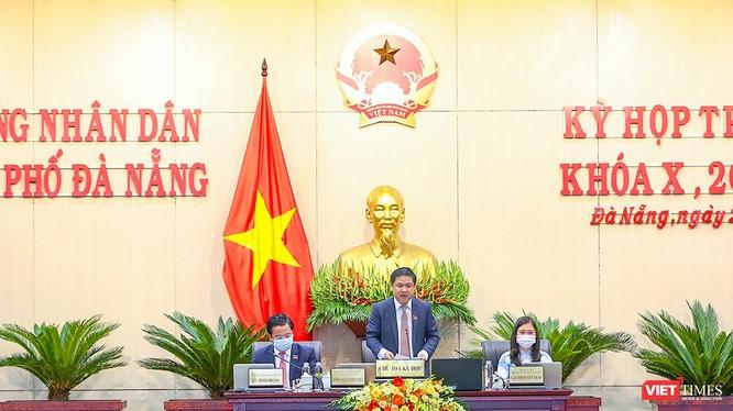Ông Lương Nguyễn Minh Triết - Chủ tịch HĐND TP Đà Nẵng chủ trì kỳ họp HĐND TP Đà Nẵng