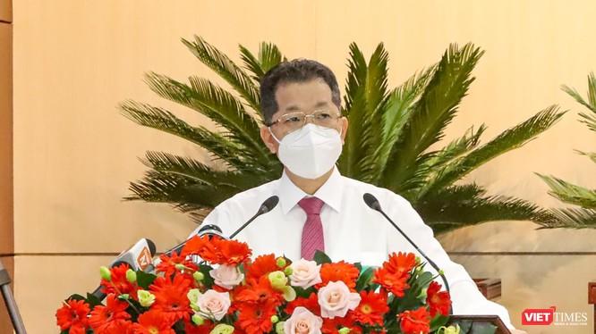 Ông Nguyễn Văn Quảng - Bí thư Thành ủy Đà Nẵng phát biểu chỉ đạo tại Kỳ họp thứ 2 HĐND TP Đà Nẵng Khóa X, nhiệm kỳ 2021-2026 diễn ra sáng ngày 12/8