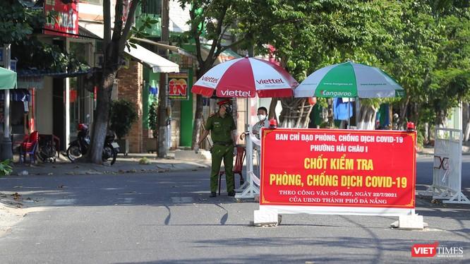 Chốt kiểm soát phòng dịch COVID-19 trên địa bàn TP Đà Nẵng