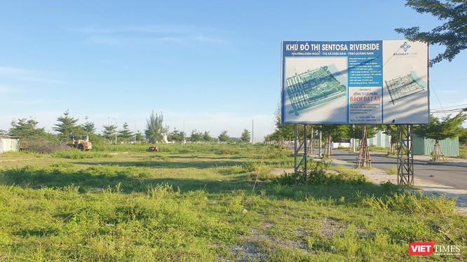 Một góc dự án đất nền tại khu đô thị mới Điện Nam - Điện Ngọc (Quảng Nam) do Công ty CP Bách Đạt An làm chủ đầu tư đang để hoang phế